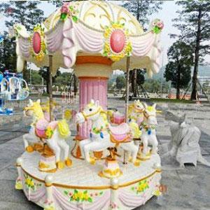 6 horse kiddie carousel