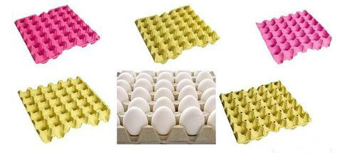 colourful egg trays