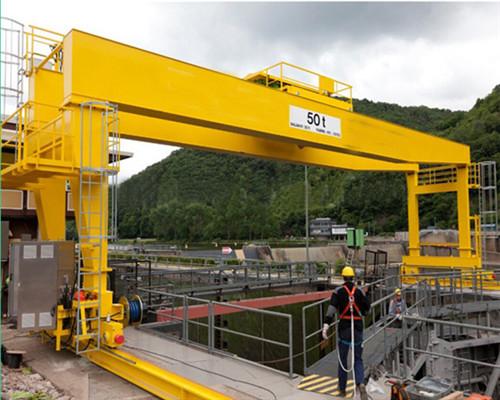 50ton rail mounted trolley hydraulic gantry crane