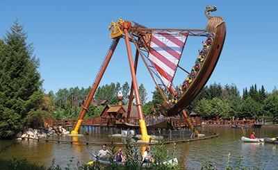 Viking ship ride in Huss Park Attractions