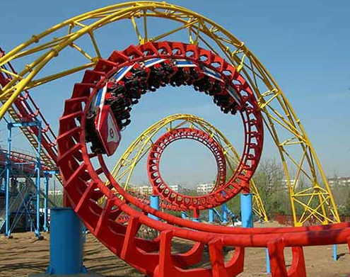 thrill rides roller coasters
