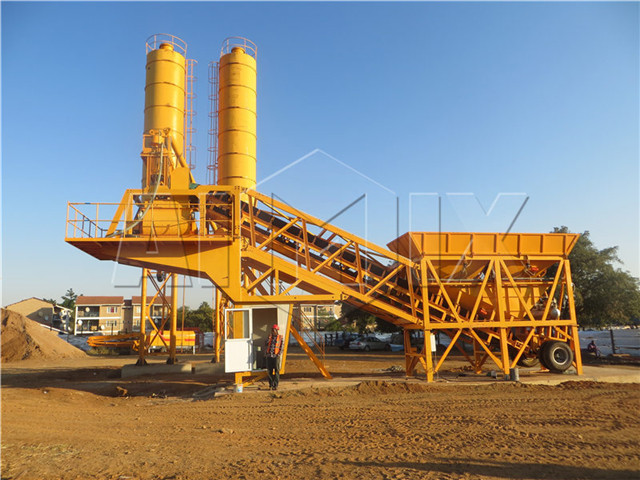 Mobile Concrete Mix Plant in China