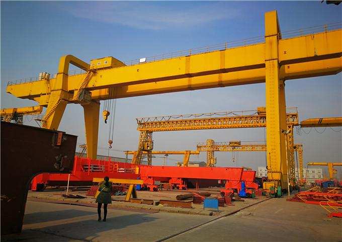 From China 60 ton double girder gantry crane price