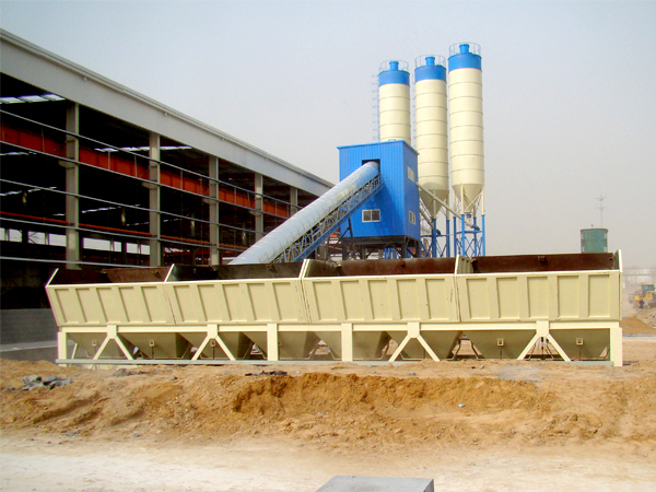 HZS60 fully automatic concrete batching plant
